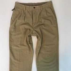 Vintage L.L. Bean Mens Pants SZ 34x32 Flannel